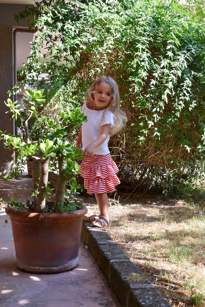 Moda per bambini: la gonna con le balze