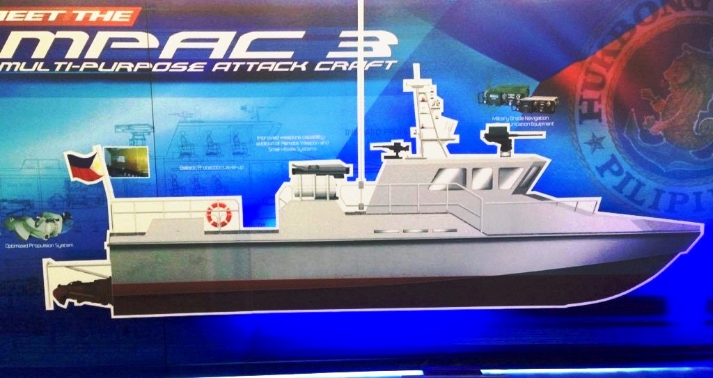 Philippine Navy MPAC 3 equipped with Rafael Israel SPIKE-ER Missile System