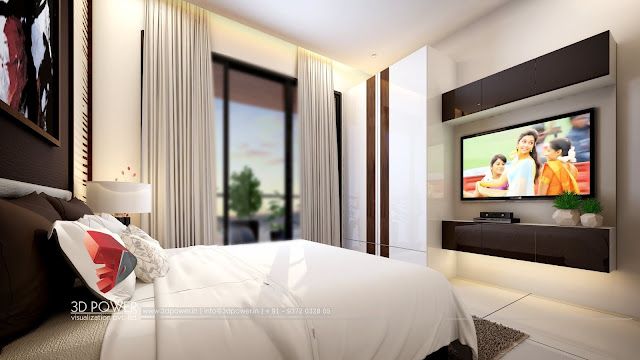 Latest designs of 3d Interior rendering for Bedroom