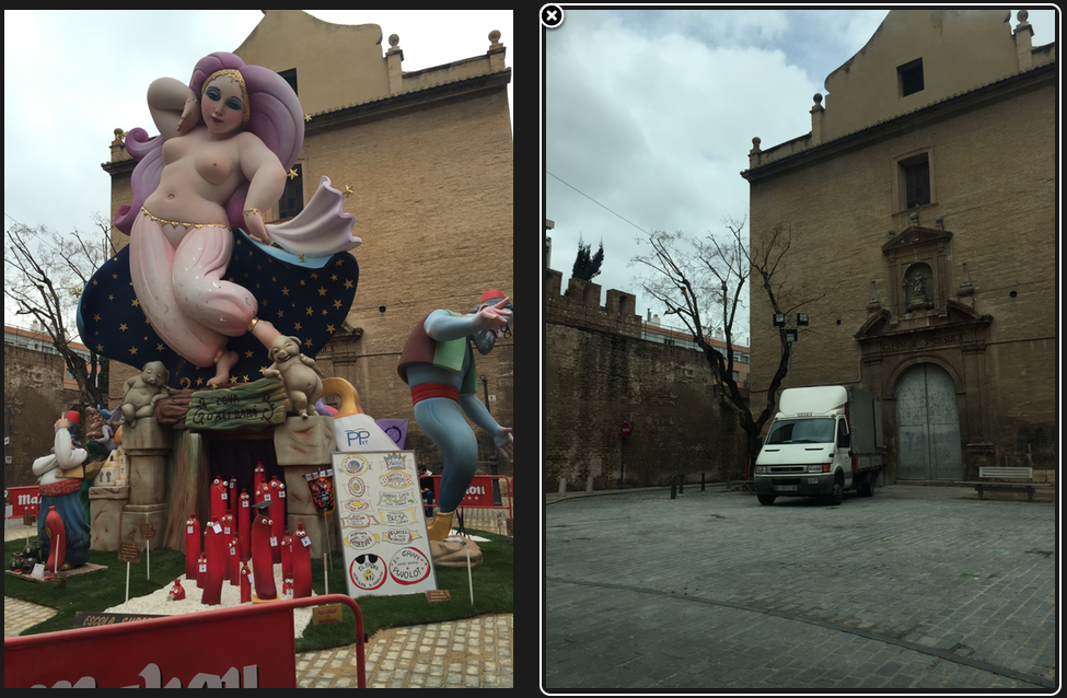 Before and after Las Fallas