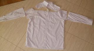 sukienka ze starej koszuli męskiej