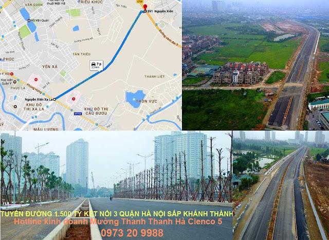 Hình ảnh tuyến đường 1500 tỷ kết nối 3 quận Hà Đông sắp khánh thành