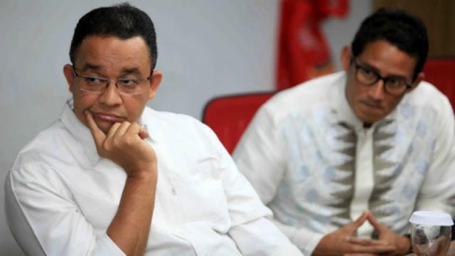Gubernur Anies Baswedan dan Wakil Gubernur Sandiaga Uno