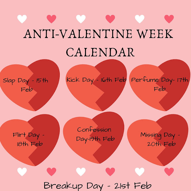 Anti-Valentine Week Calender 2021