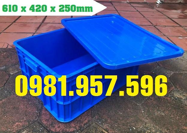 Thùng công nghiệp, thùng nhựa đóng hàng, thùng nhựa 25cm