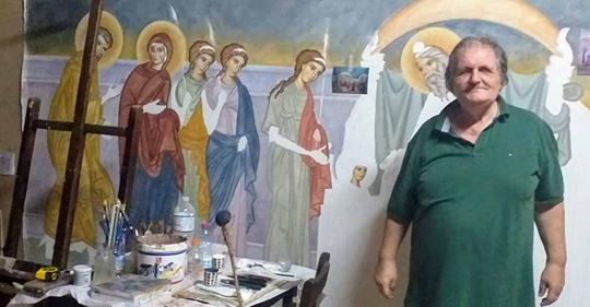Σήμερα η κηδεία του Αργείου αγιογράφου Βασίλη Δήμα