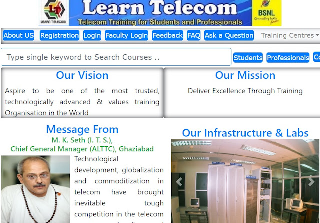 BSNL launches 'Learn Telecom' online web portal to provide Telecom Training programs to Students, Professionals and BSNL Employees all over India