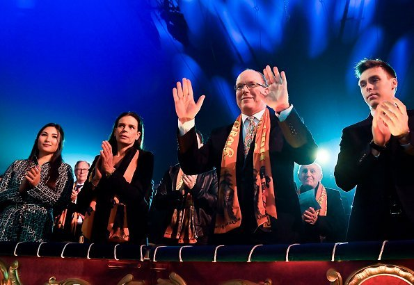 Prince Albert, Princess Stephanie, Louis Ducruet and Marie Chevallier attended the 43rd Monte-Carlo International Circus Festival