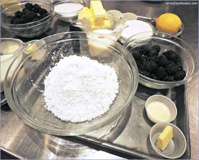 Ingredientes de los Mini Bundt Cakes de Limón y Moras