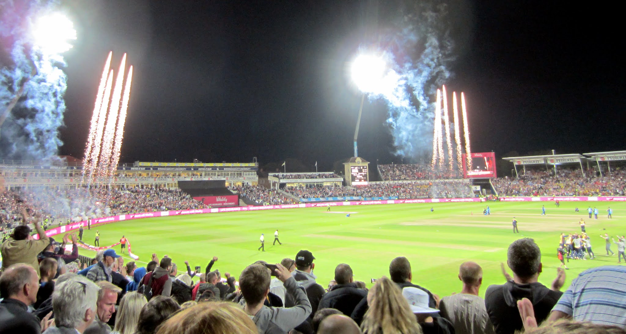 Fireworks at Edgbaston Stadium