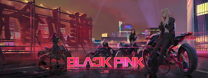 Black Pink, Cyberpunk Illustration by HG Chen