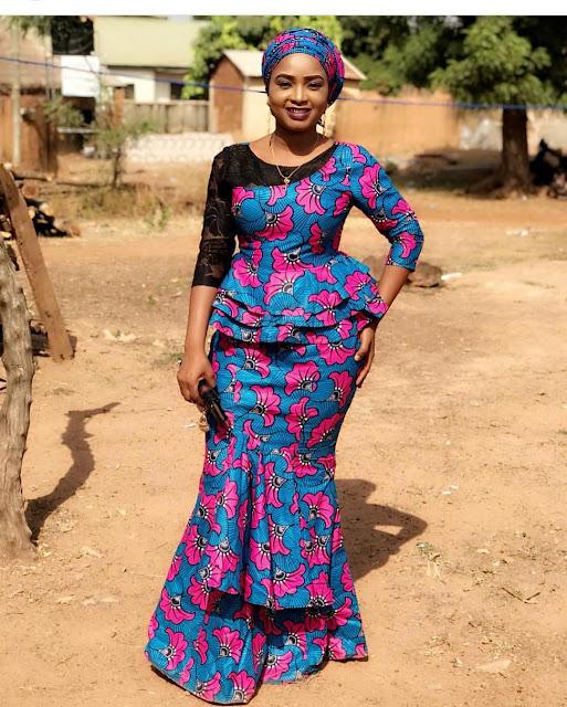 Ankara long gown designs