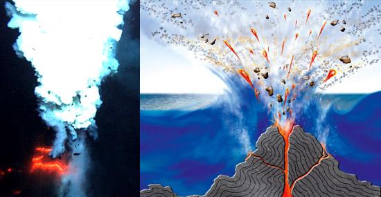 Vulcões submarinos podem explicar Triangulo das Bermudas