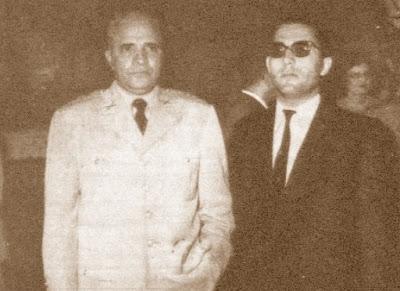 Rafael Saborido Carré con el ministro de Defensa de El Salvador