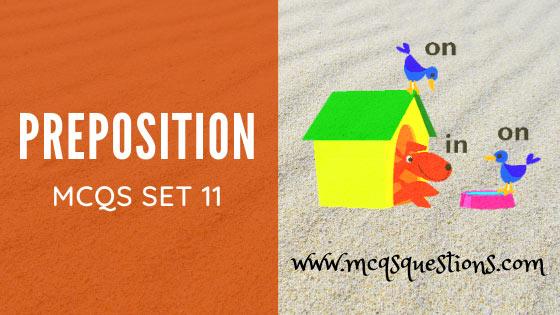 english preposition mcqs set 11
