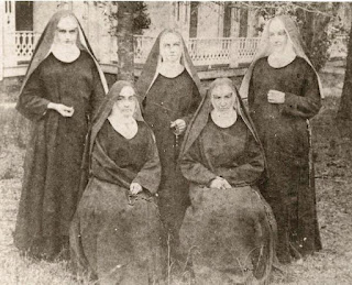 Old photo of 5 Benedictine sisters in Florida