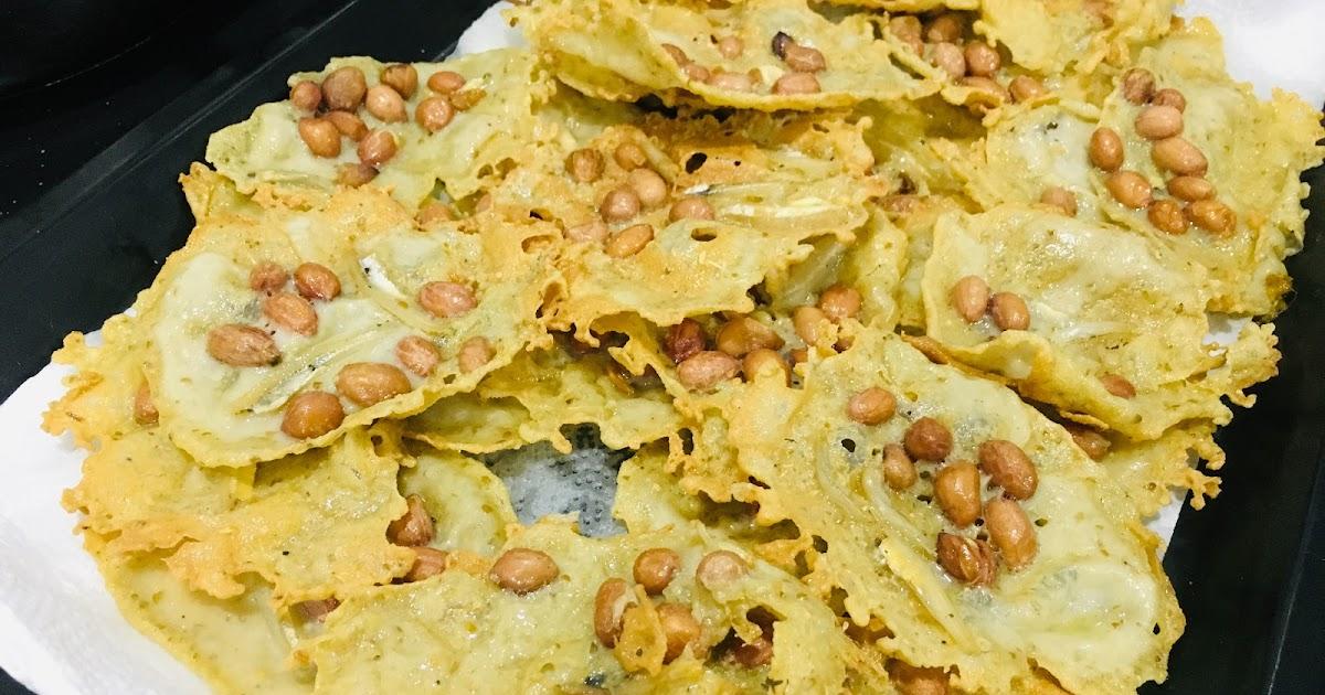 rempeyek kacang tanah asli  rangup berempah   sedap  resepi sukatan cawan Resepi Kuih Rempeyek Rangup Enak dan Mudah