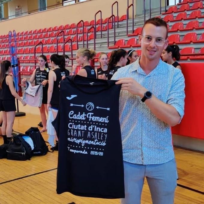 Grant Ashley dona suport a l'equip femení de Bàsquet ciutat d'Inca