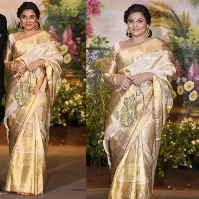 Vidya Balan at Sonam Kapoor's Reception