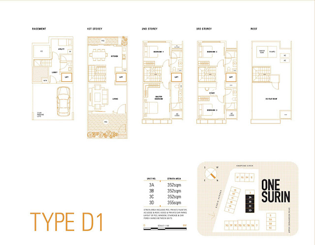 One Surin Type D1 Floor Plan