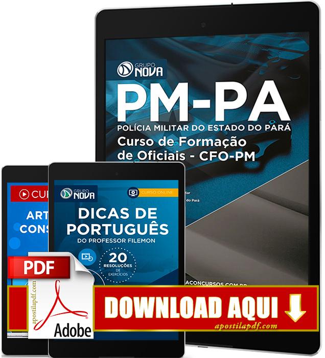 Apostila PM PA 2016 PDF Download Curso de Formação de Oficiais PDF