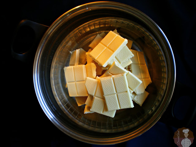 Fundido del chocolate blanco