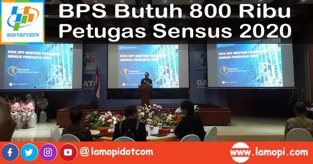 Lowongan Kerja BPS Petugas Sensus 2020