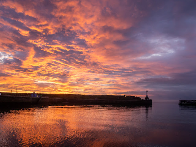 Photo of Maryport Lighthouse at sunset