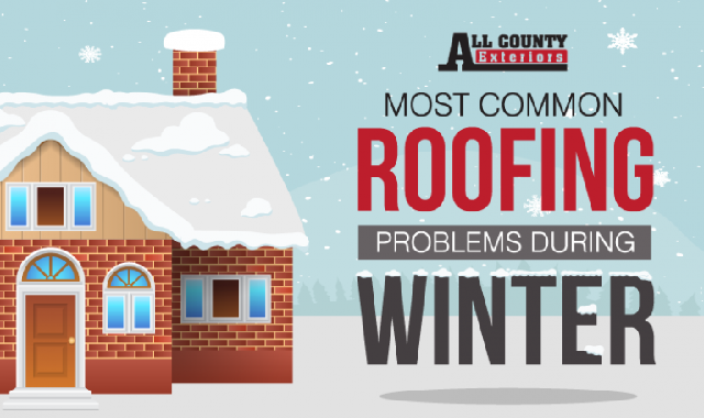 Most Common Roofing Problems During Winter #infographic