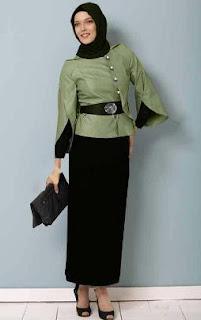 Baju Kerja Untuk Wanita Muslim Berjilbab Desain Modern