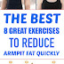 The Best 8 Great Exercises To Reduce Armpit Fat Quickly
