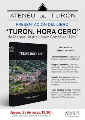 Cartel presentación libro Lito, Turón, Hora Cero