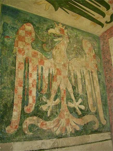 Moravská orlice  Malba moravské orlice ve velké věži hradu Karlštejn ... 9c3b04c837