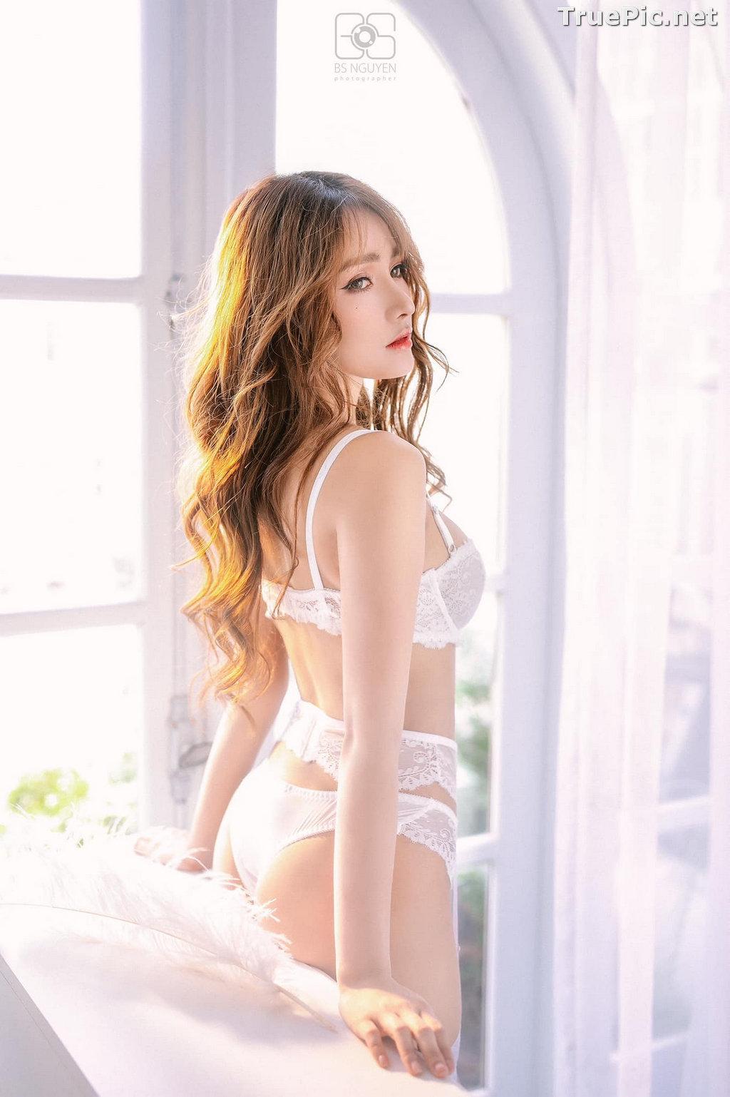 Image Vietnamese Model - Nguyen Thi Phi Yen - Beautiful Sexy White Lingerie - TruePic.net - Picture-21