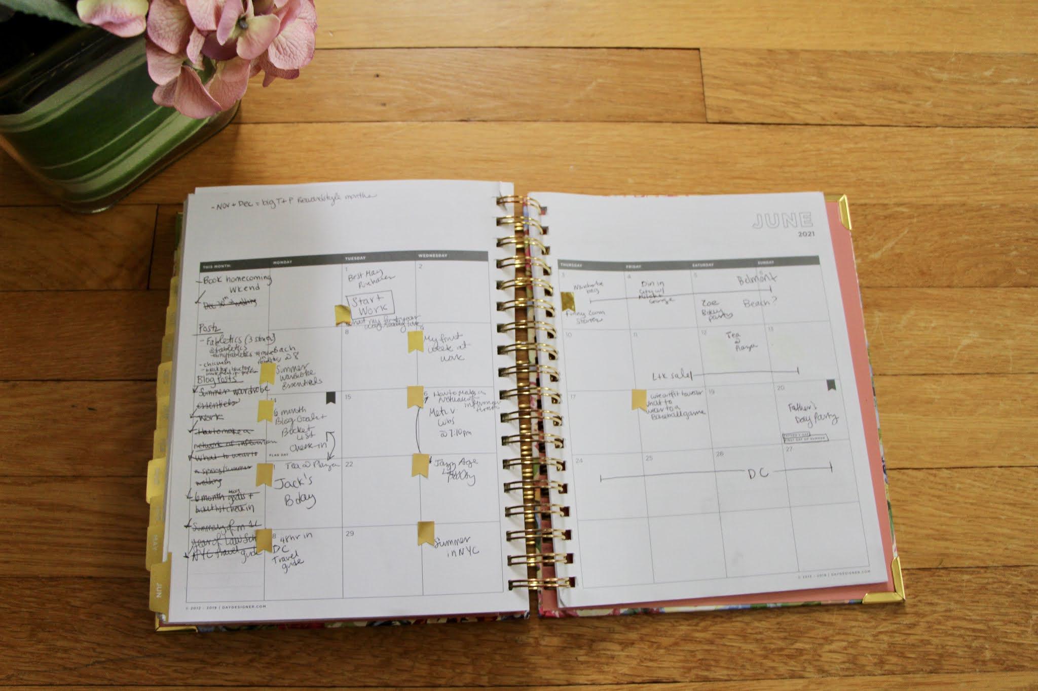 Day designer planner, monthly planner