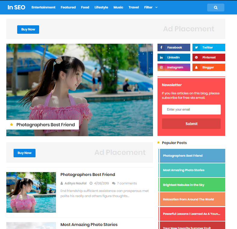Seo Pro Free Premium Responsive Blogger Template, Seo Friendly Free Download