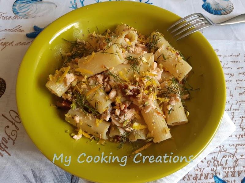 Ригатони в сос от сьомга и шамфъстък * Rigatoni al sugo di salmone e pistacchi