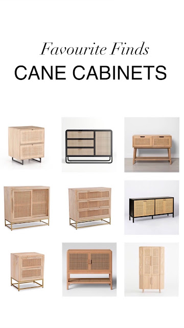favvourite Finds Cane Cabinets Harlow and Thistle