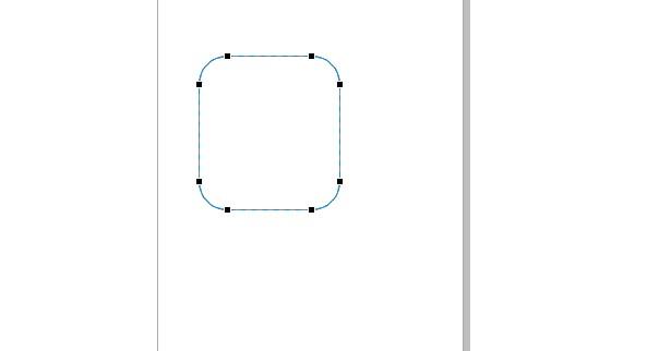 hasil dengan shape tool yaitu membuat sudut tumpul di corel draw