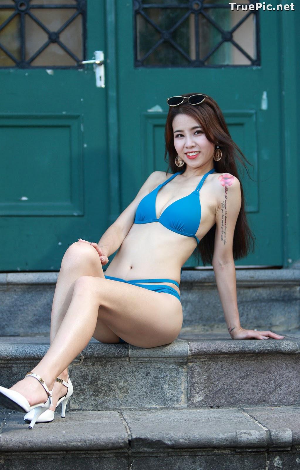 Image Taiwanese Beautiful Model - Debby Chiu - Blue Sexy Bikini - TruePic.net - Picture-10
