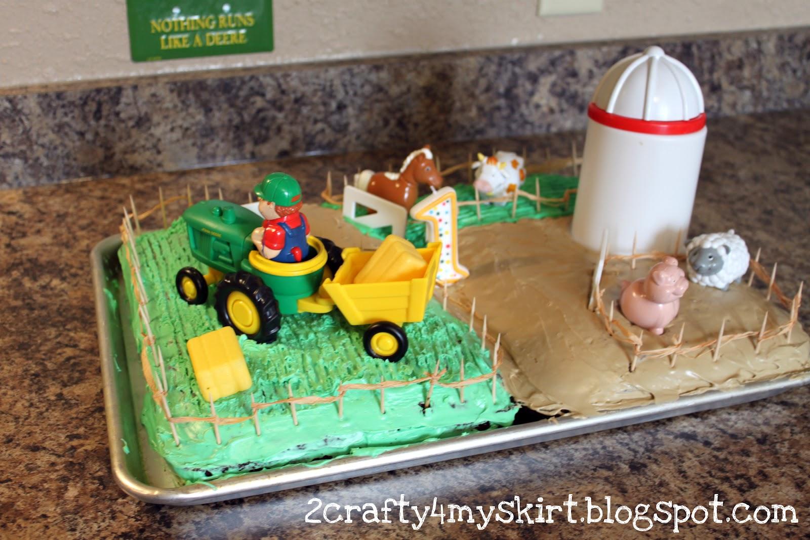 2 Crafty 4 My Skirt Farm Birthday Cake
