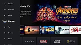 Disney plus Hotstar content on Apple TV.