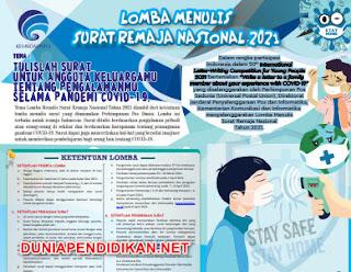 Juknis Lomba Menulis Surat Remaja Nasional Tahun 2021.