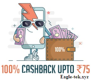 Freecharge 100% Cashback  offer UP TO 75