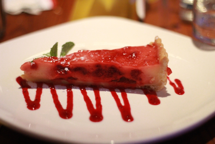 Banana Wharf Ocean Village Raspberry and Lemon Tart