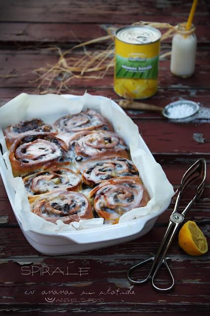 Spirale cu ananas Sun Food si stafide, aromate cu scortisoara si lamaie