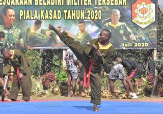Lomba bela diri militer piala KASAD tingkat KODAM untuk memupuk prestasi prajurit