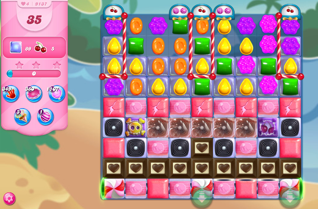 Candy Crush Saga level 9137