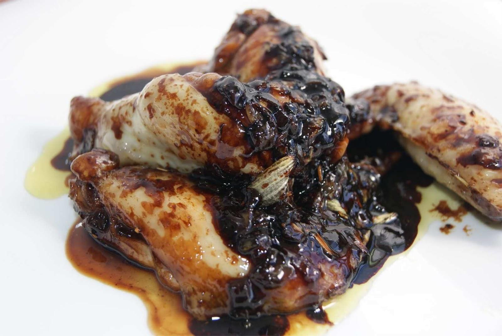 alitas de pollo en salsa de soja