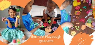 Aktivitas seru agar anak betah di rumah yaitu bermain playdough